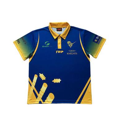 Association Clothing 100% Polyester Customized Logo Design Blue Sports Polo Shirts Ladies